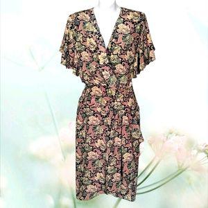 CASSIDY Floral Cottagecore Midi Dress
